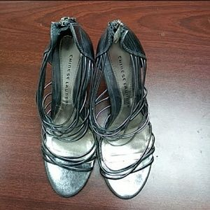 Women's 8.5 Chinese Laundry Silver Heels
